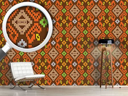Design Wallpaper Oriental Ikat