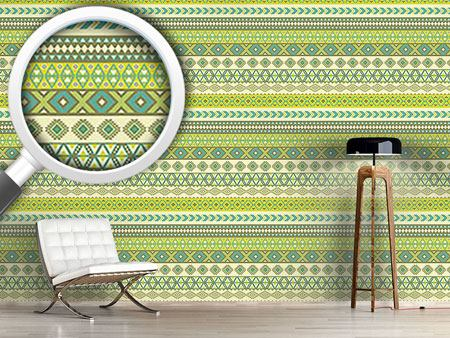 Design Wallpaper Ethno Stripes Kilim