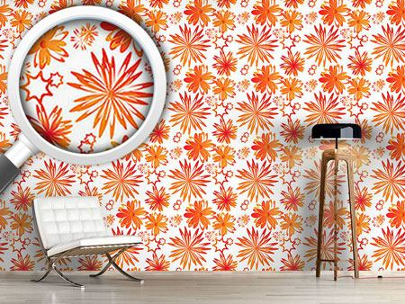 Design Wallpaper Rotating Flowers