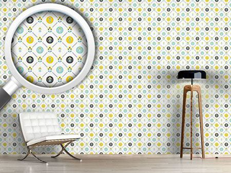 Design Wallpaper Scandinavian Flowers