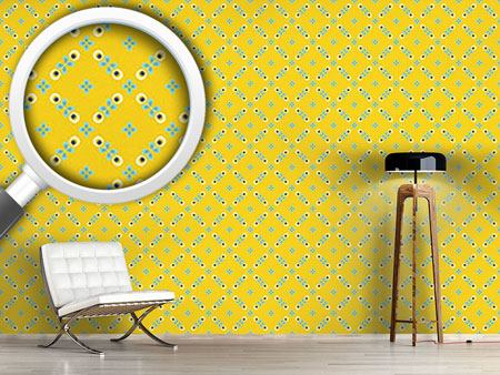 Design Wallpaper Scandinavian Retro Flowers