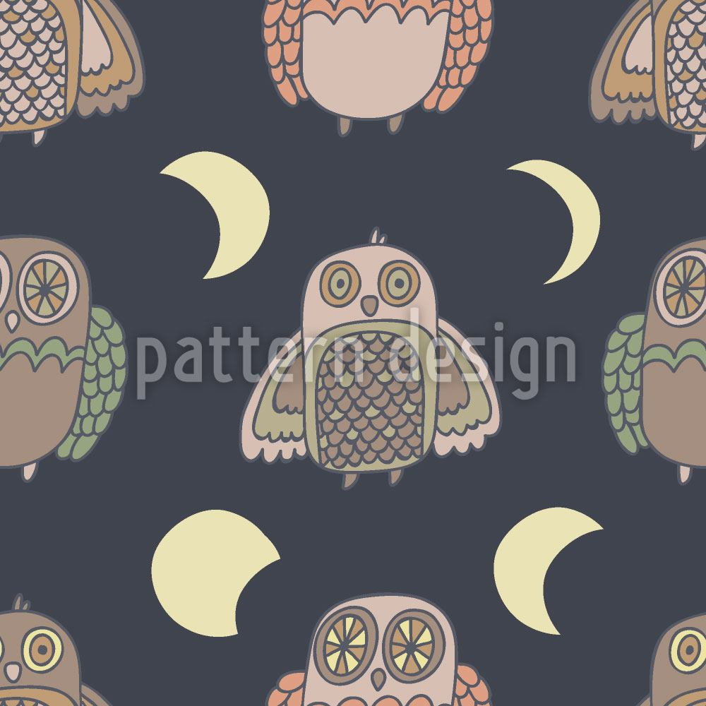 Carta da parati Owl Moonwalk