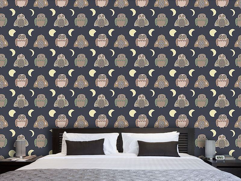 Design Wallpaper Owl Moonwalk