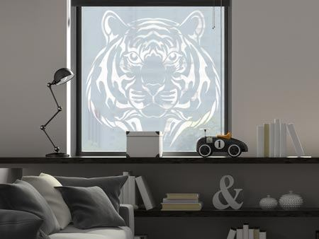 Window Foil Tiger head