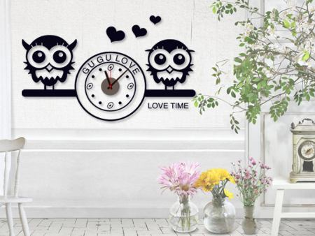 Sticker muraux Love Time Clock
