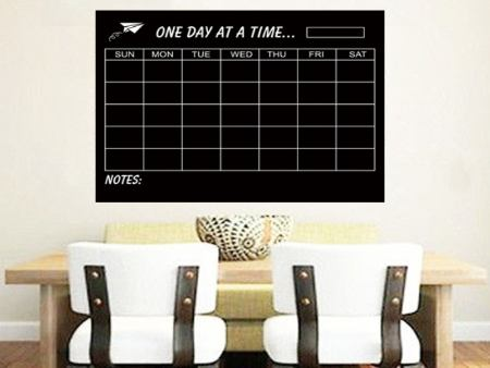 Sticker muraux Chalkboard Monthly Planer