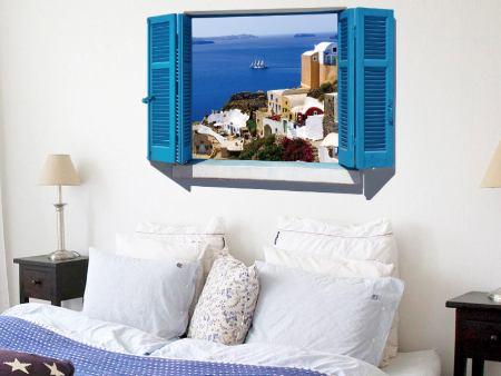 Wall Sticker Window With Island View