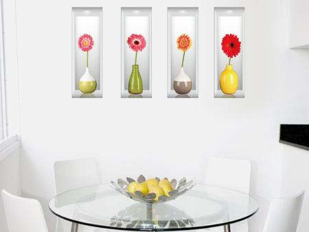 Sticker muraux 3D Flower Vases