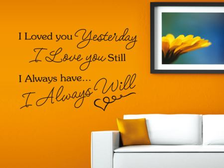 Wall Sticker I Love YOU