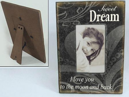 Vintage Wooden Photo Frame Black DREAM