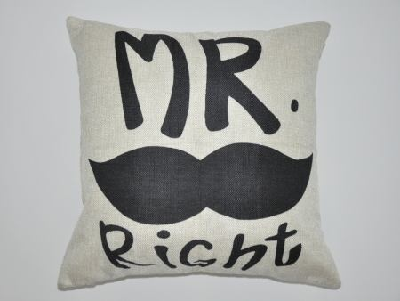 Cushion Cover MR. Right With Beard
