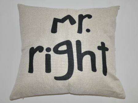 Housse de coussin Mr. Right