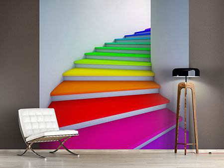 Photo Wallpaper Colorful Stairs