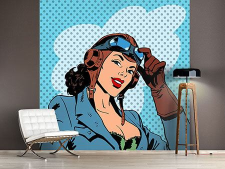 Photo Wallpaper Pop Art Pilot