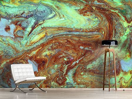 Photo Wallpaper Marble In Green