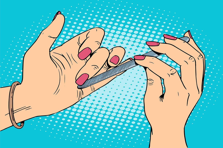 Photo Wallpaper Pop Art Nails