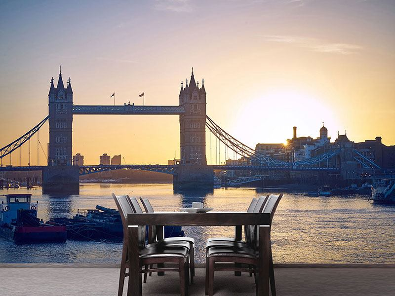 Fotomurale Tower Bridge al tramonto