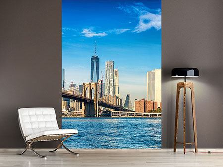 Papier peint photo Horizon de New York et pont de Brooklyn