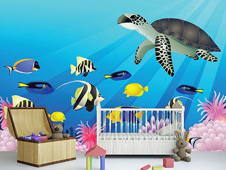 Photo Wallpaper Children`s Underwater World