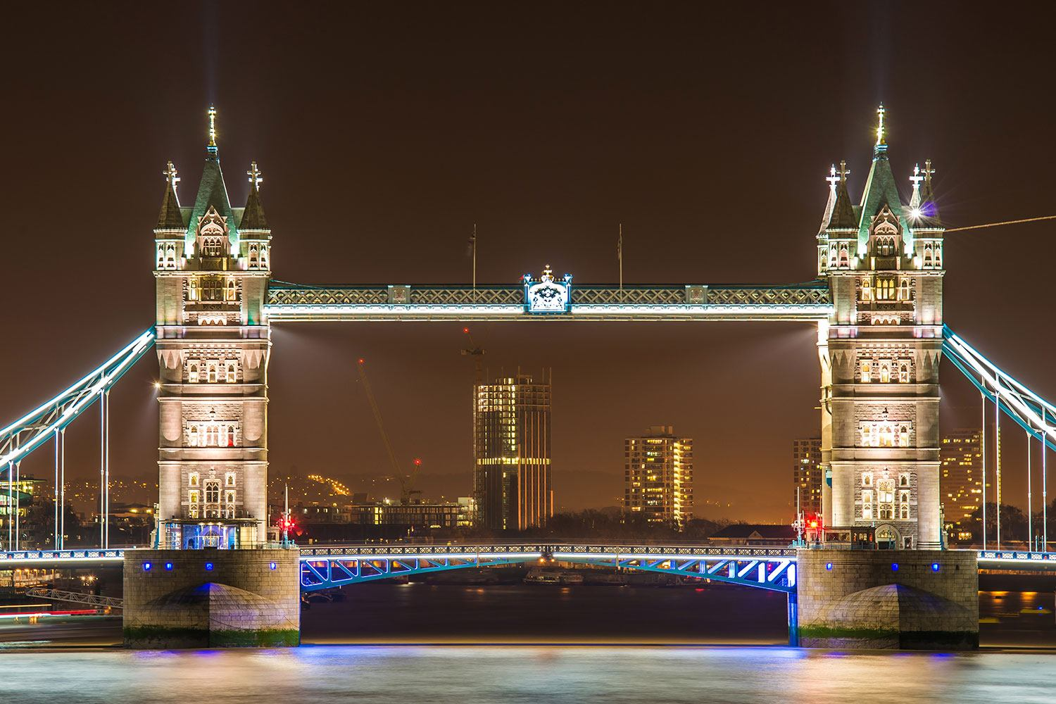 Papier peint photo Tower Bridge la nuit