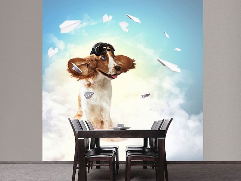 Photo Wallpaper Flying Dog
