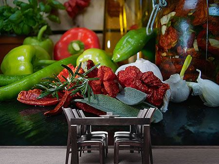 Photo Wallpaper Mediterranean Vegetables