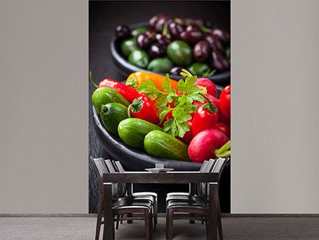 Photo Wallpaper Vegetable Drawer