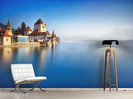 Photo Wallpaper Castle Oberhofen Thunersee